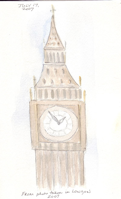 how to draw london big ben