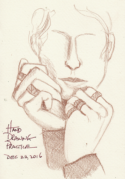 paper and threads deliberate practice drawing hands