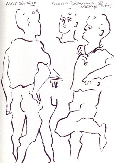 picasso line drawings of people wwwimgkidcom the